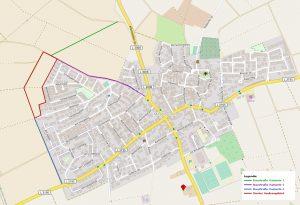 Karte-Baustraße